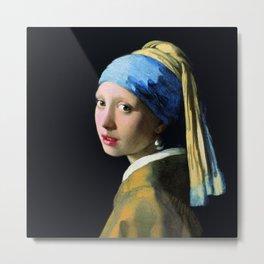 Vermeer - Girl with a Pearl Earring Metal Print