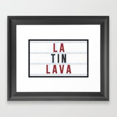Latin Lava Framed Art Print