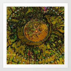 Abstract-Soul Of The Sun by  Sherri Of Palm Springs Art Print