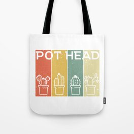 A Cute Greeny Cactus Plant Tee For You With Illustration Of A Potted Cactus T-shirt Design Tote Bag