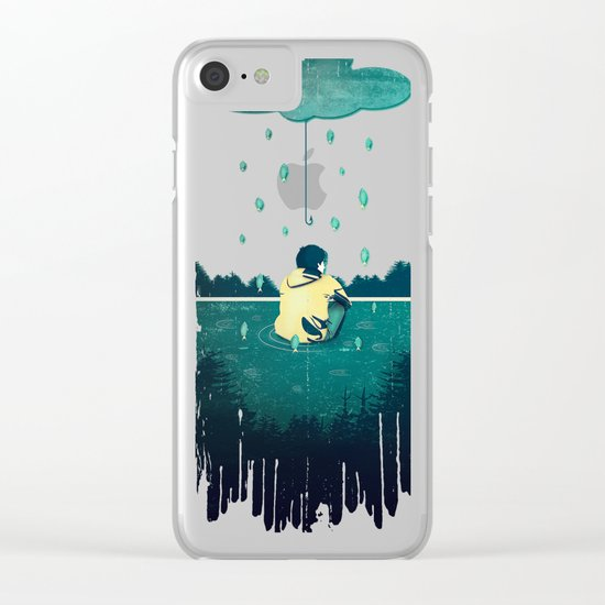 Emotion Sickness Clear iPhone Case