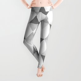 GRAPHIC PATTERN Funky geometric triangles | lightgrey & silver Leggings