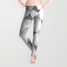 GRAPHIC PATTERN Funky geometric triangles | lightgrey & silver Leggings