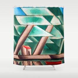 Josef Capek Waterside Shower Curtain