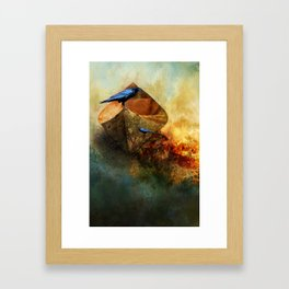 Beached Crow Framed Art Print