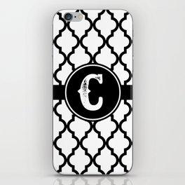 Black Monogram: Letter C iPhone Skin