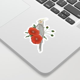 Light Grey/Cinnamon Cockatiel Sticker