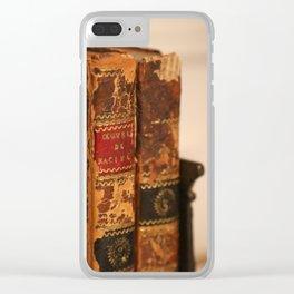 Antique books - ver 2 Clear iPhone Case