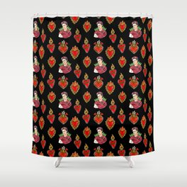 Sacred Hearts and Frida Shower Curtain