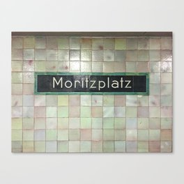Berlin U-Bahn Memories - Moritzplatz Canvas Print
