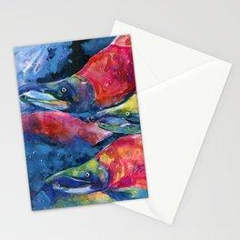 Sockeye Salmon by Kathy Morton Stanion Stationery Cards