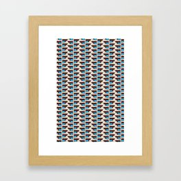 Duck wings surface patterns Framed Art Print