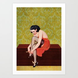Sexy Woman in Red Art Print