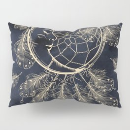 GOLDEN MOON IN DARK NIGHT Pillow Sham