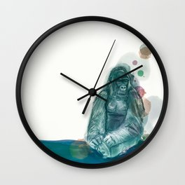 Green gorilla for Loïc Wall Clock