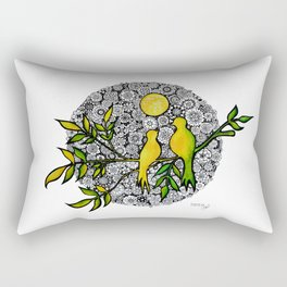 Yellow birds Rectangular Pillow