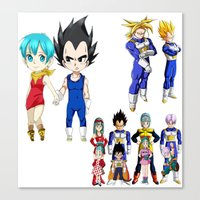 vegeta Canvas Prints featuring Vegeta FAMILY  by Lee Chao Charlie Vang
