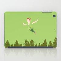 peter pan iPad Cases featuring PETER PAN by kattie flynn
