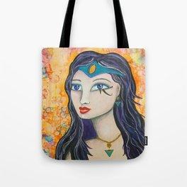 Diana - Gold Lotus Oracle Series Tote Bag