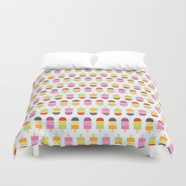 Kawaii Summer Ice Lollies / Popsicles Duvet Cover