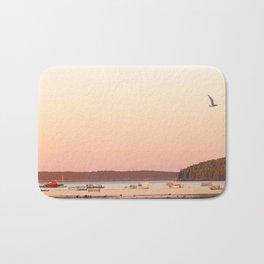 Pink Sunset Over the Harbor Bath Mat
