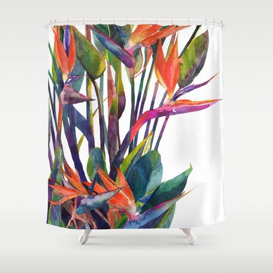 The Bird Of Paradise Shower Curtain By Takmaj Society6