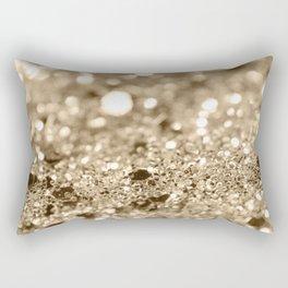 Champagne Gold Lady Glitter #1 #shiny #decor #art #society6 Rectangular Pillow