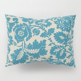 Retro Leaves on a Blue  Background Pattern cutest Pillow Sham