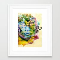 fairy tale Framed Art Prints featuring Fairy Tale by Irmak Akcadogan