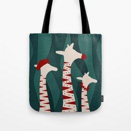 Giraffes Family Holiday Design Tote Bag