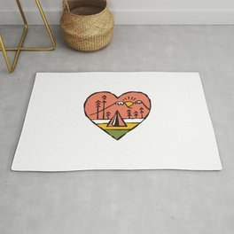 Camping in Love Rug