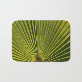 Green Plam Leaf Bath Mat