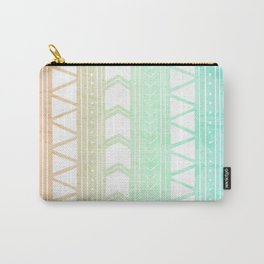 Sherbet Geometric Pattern Carry-All Pouch