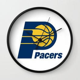 Indiana Pacer Logo Wall Clock