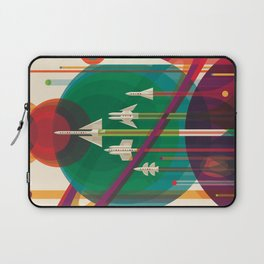 NASA Retro Space Travel Poster The Grand Tour Laptop Sleeve