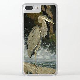 Heron & Cormorant Clear iPhone Case