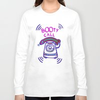 booty Long Sleeve T-shirts featuring ((( BOOTY CALL ))) by FABIO MIGGIANO_H13