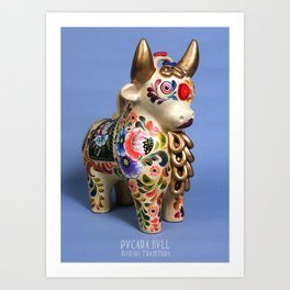 Pucara Bull Art Print