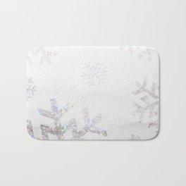 Snowflake Glitter Bath Mat