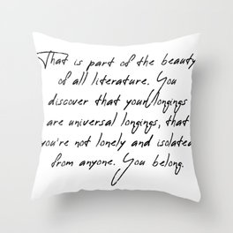 part of the beauty Throw Pillow
