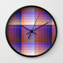 Complimentary Color Harmony ..Blue/orange Wall Clock