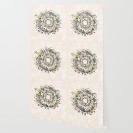Circle of life- floral Wallpaper