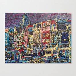 Amsterdam Nieuwe Zijds Voorburgwal Canvas Print