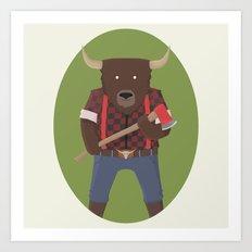 Lumberyak! Art Print