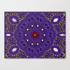 Lovely Healing Mandalas in Brilliant Colors: Purple, Brown, Yellow, Red and White Canvas Print