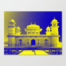 Baby Taj Mahal Blue and Yellow Canvas Print