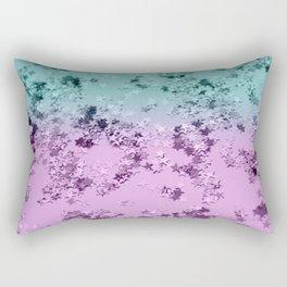 Mermaid Lady Glitter Stars #3 #decor #art #society6 Rectangular Pillow