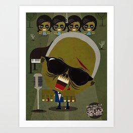 Ray Charles Zombie Art Print