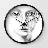 fault Wall Clocks featuring not my fault by David Cristobal