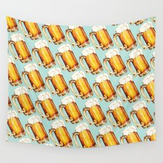 Beer Pattern Wall Tapestry